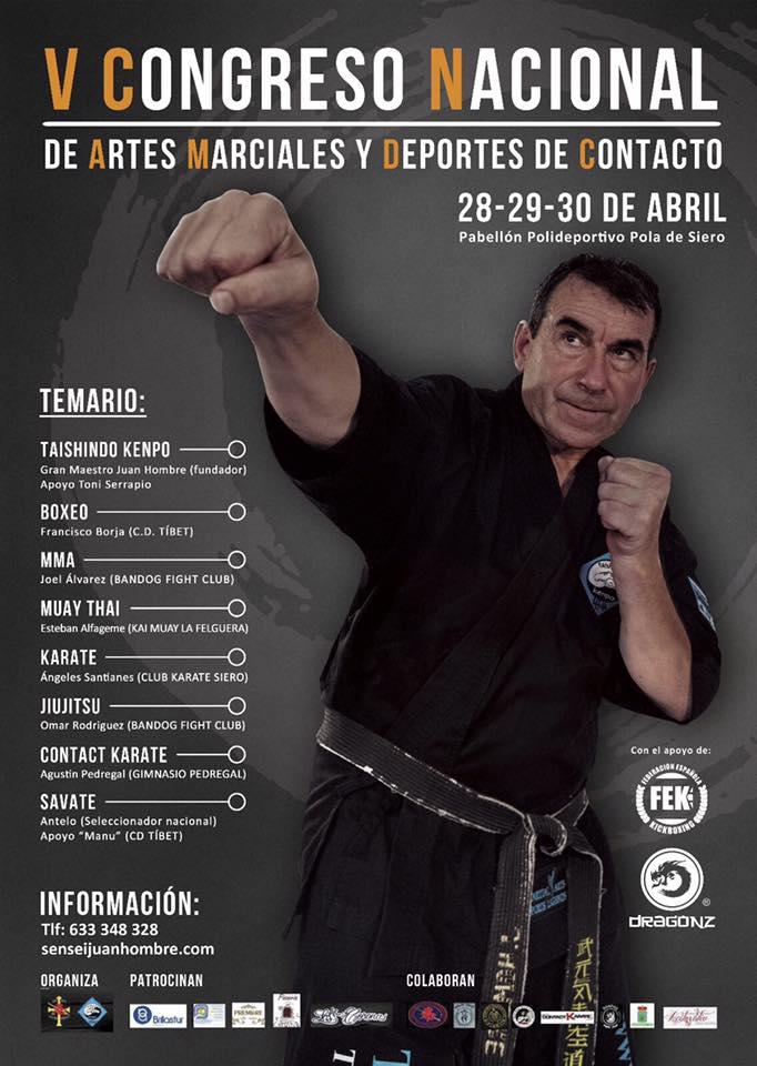 Cartel con la información sobre el Congreso Nacional en Pola de Siero.