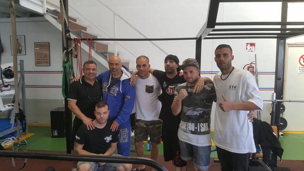 Miki Sánchez, Carlos Vilariño, Fran Paz y Adri Miraz compartieron las instalaciones del Ludus Box Artabrum.