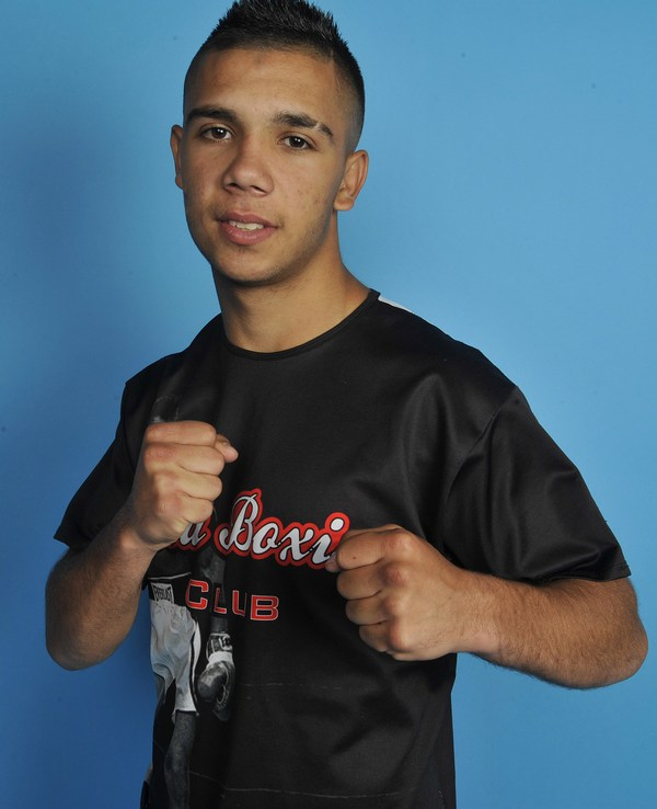 Aramis Santiago Torres en la época en la que formaba parte del Equipo canario de Boxeo. Foto cedida.
