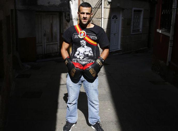 Aarón González Diz Tendra un duro y combativo competidor en el Chacal. Foto de R. Leiro paraLa Voz de Galicia.