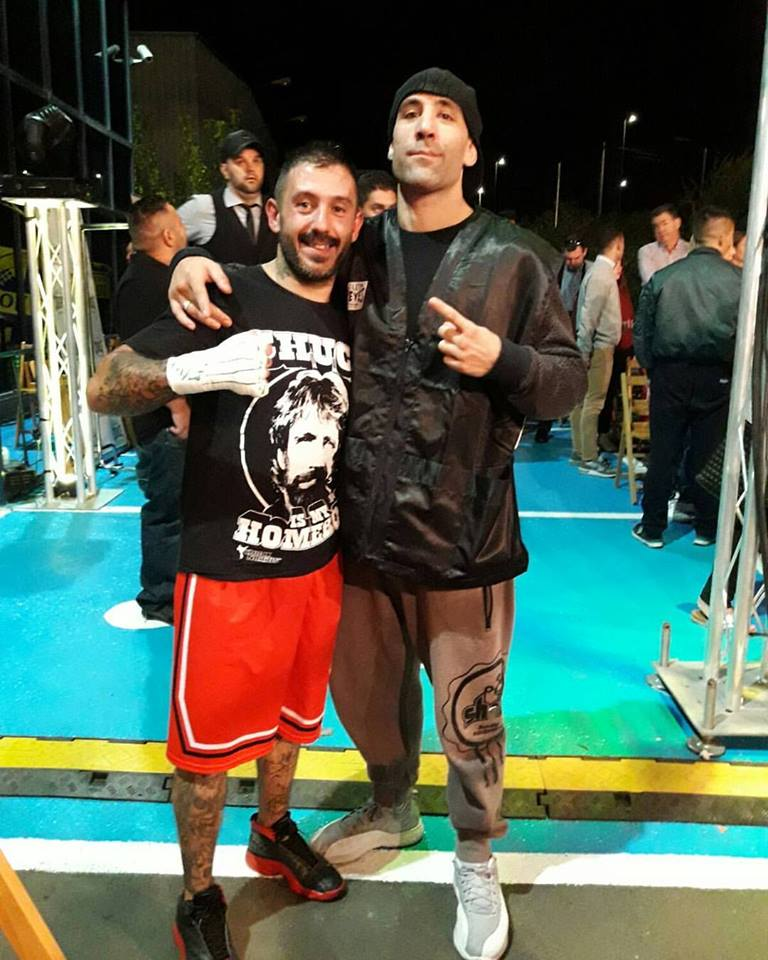 La colaboración boxística entre Iago Barros y Fran Paz empieza a dar sus frutos. foto web publicada por Gonzalo Gallegos.