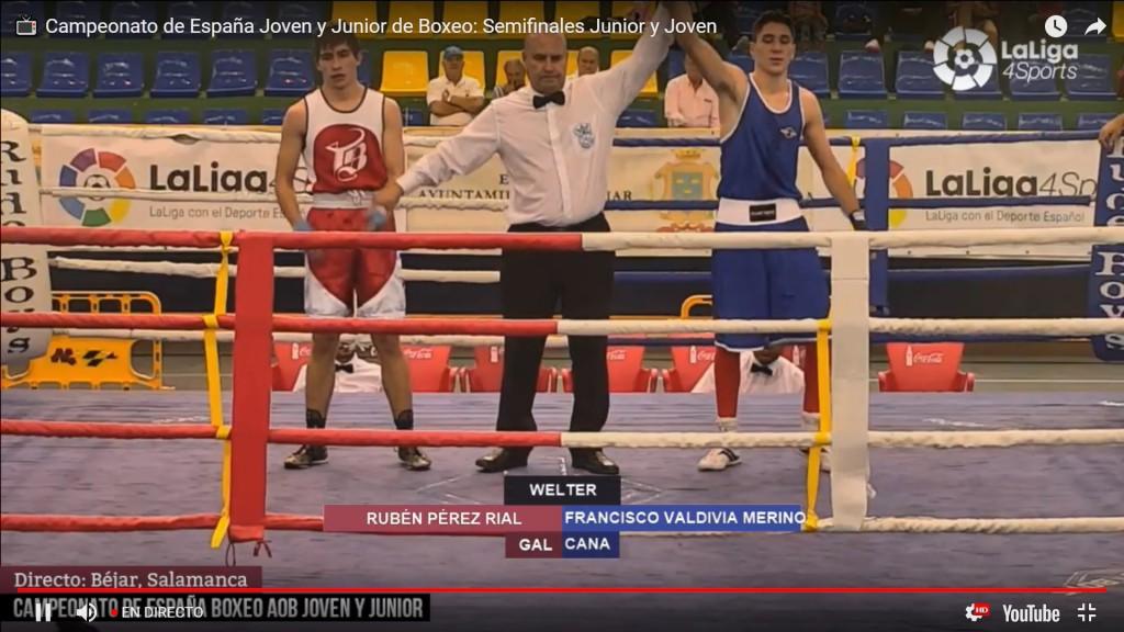Rubén Pérez Rial hizo un gran combate pero no pudo alcanzar el triunfo ante un gran rival. imagen de la trnsmision de LaLiga4Sports.