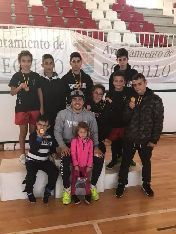 El combinado del Gimnasio Olímpo`s de Orense con Manu Miguez al frente.