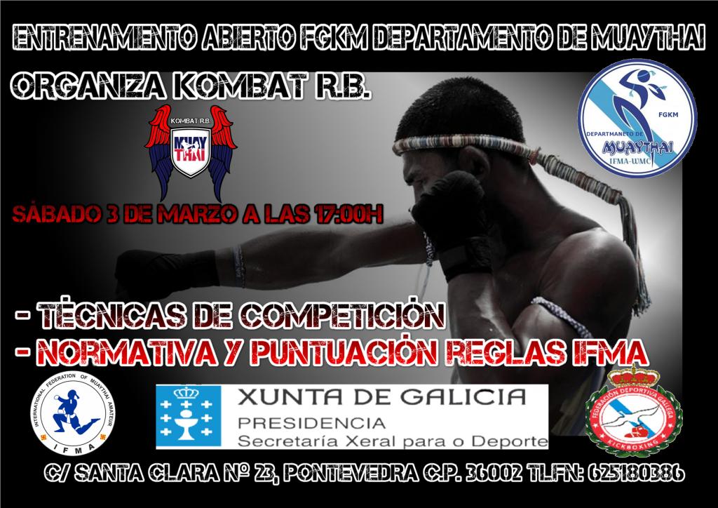 Afiche publicitario del Entrenamiento Abiert cortesía del Kombat RB.