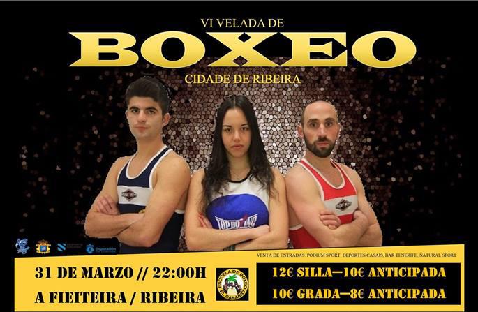 Afiche publicitario de la Vi Velada Cidade de Ribeira
