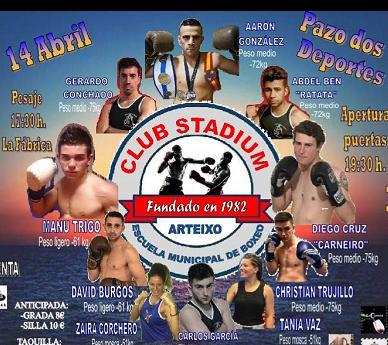 Detalle del cartel del evento boxístico de Arteixo. foto web
