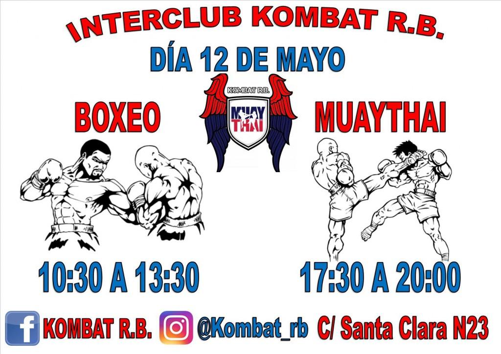 Afiche publicitario del Interclub Kombat Rias Baixas