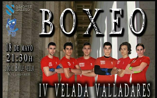 Detalle del cartel anunciador de la IV VELADA VALLADARES.