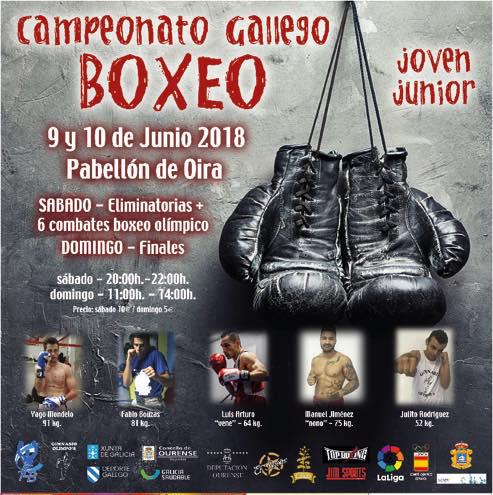 Afiche anunciador de los Campeonatos Gallegos Joven y Junior.