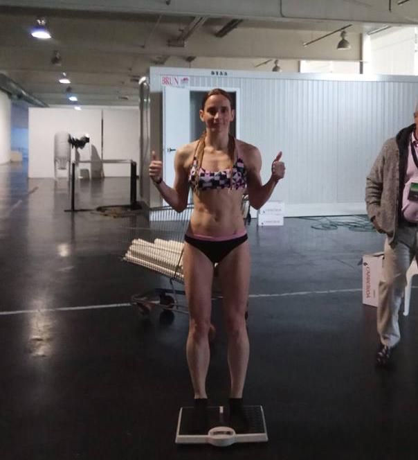 Christine Oya Steinbrüggen continúa con su progresión boxística en Vigo. foto Rebouras Team.