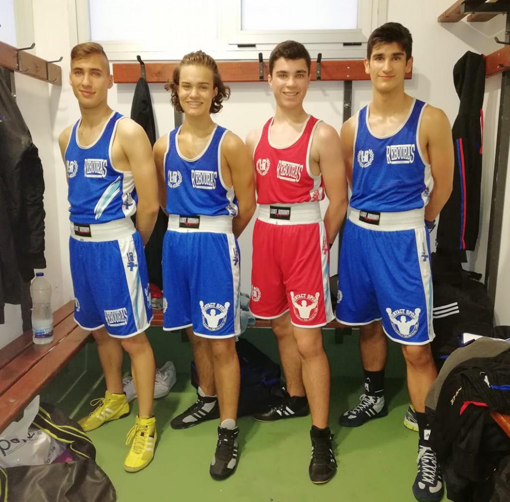 Los representantes del Rebouras Team de Vigo, auparón a su club a lo más alto del podio por Equipos. foto rebouras.