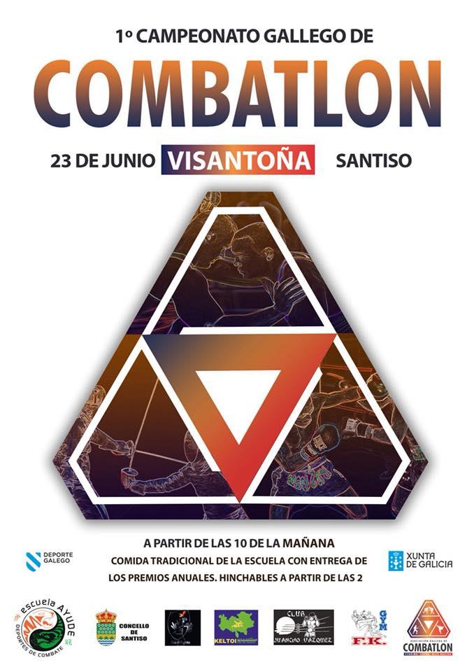 Cartel anunciador del Primer Campeonato Gallego de Combatlon. gentileza de Antelo Team.