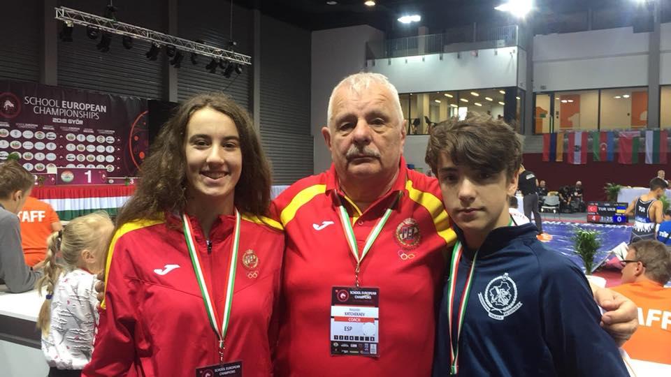 Nerea Iglesias y Nahun Ayude representaron a la Escuela Ayude en los Campeonatos Europeos Escolares en Gyor ( Hungria )
