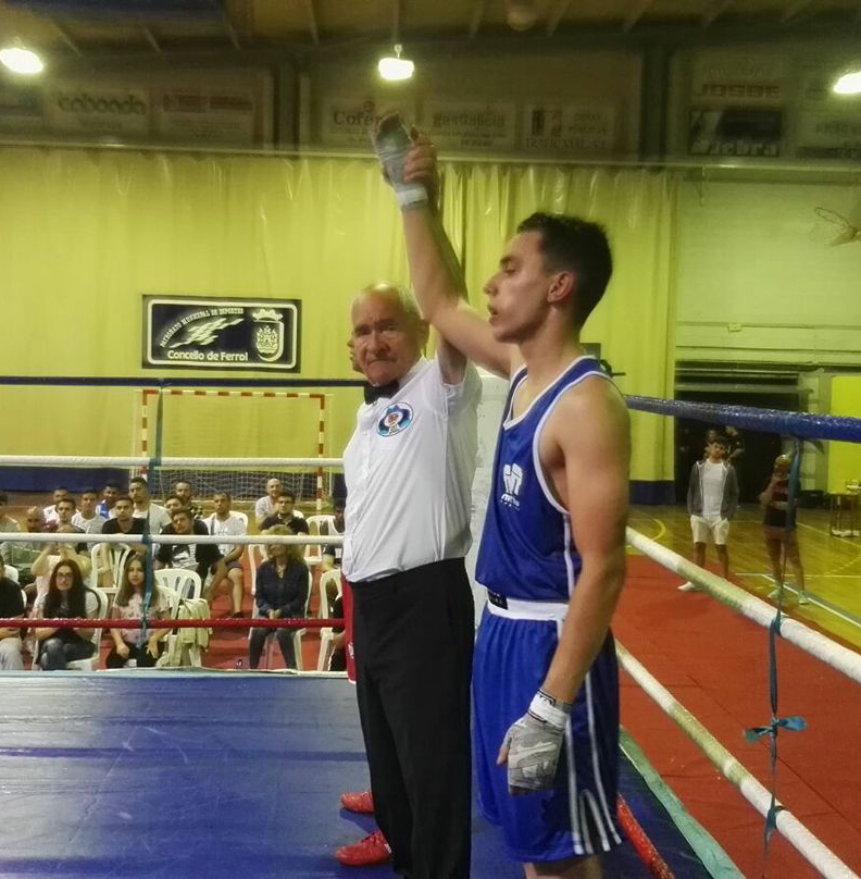 Cristian Patiño del Tae Box cerceda, alcanzó un triunfo a domicilio en Ferrol, ante Julian