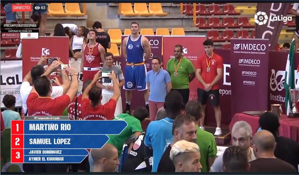 Martiño Río González alcanzó lo más alto del podio, por segunda vez, en dos años de boxeador. LaLiga4Sports