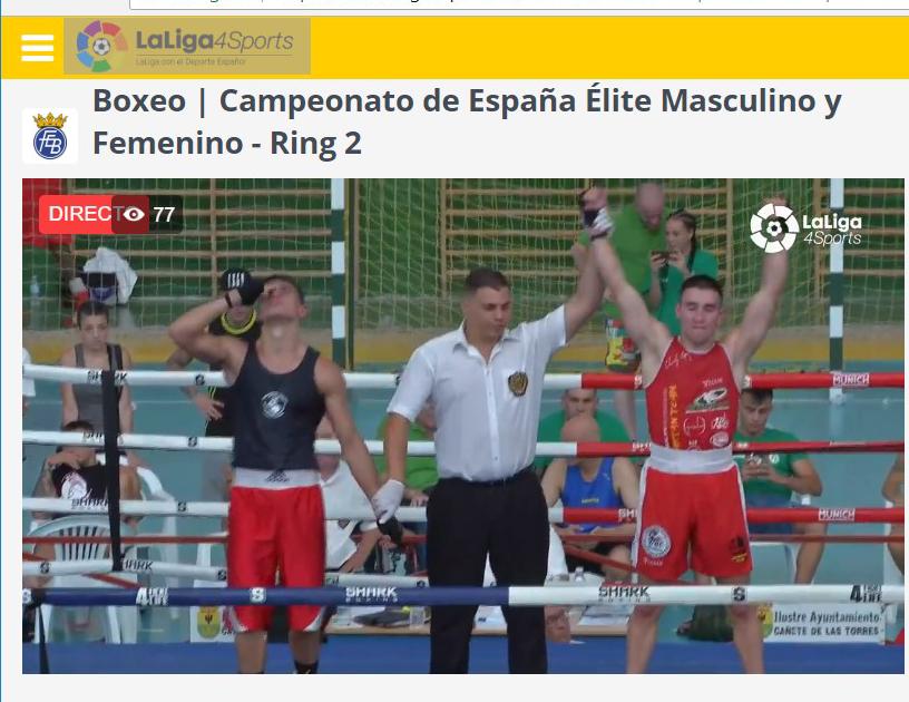 El pundonor y combatividad del campeón gallego Charli López le otorgó la victoria. LALIGA4SPORTS.