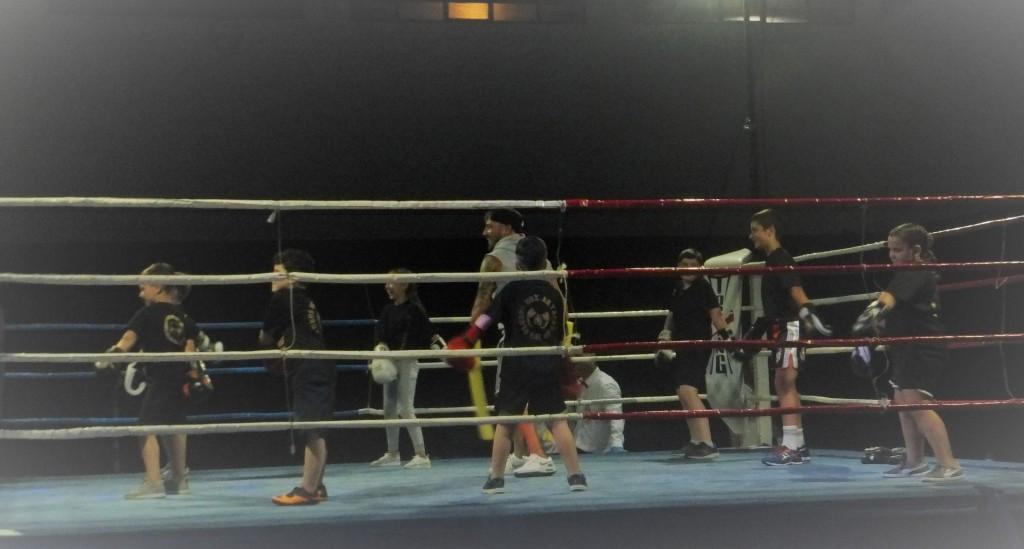 El polideportivo de Petunias amenazó con venirse abajo ante la estruendosa ovación que produjo la exhibición de los Infantiles del Ludus. foto Rubén Barral