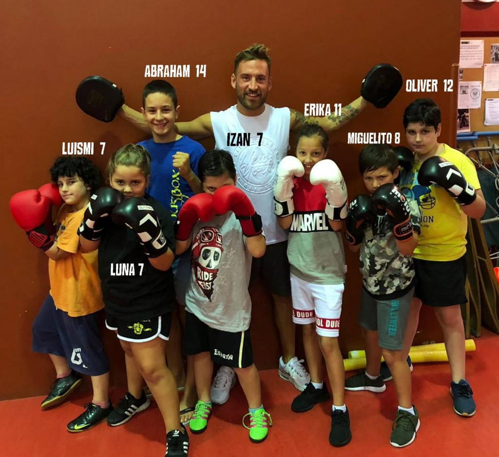 Fotomontaje compuesto por  Cristina Fernandez del equipo infantil de Boxeo del Ludus Box.