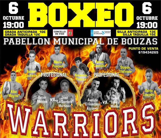 Detalle del cartel anunciador del evento que se celebrará en el Municipal de Bouzas, cortesía de Manuel Jimenez.