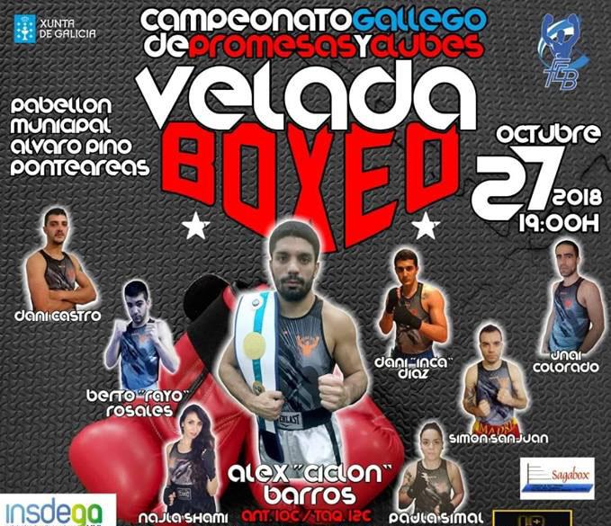 Los aficionados al boxeo que se desplacen el sábado hasta el Municipal Álvaro Pino, tendrá el privilegio de contemplar las evoluciones boxisticas del formidable equipo Club Deportivo Sagabox. cedida