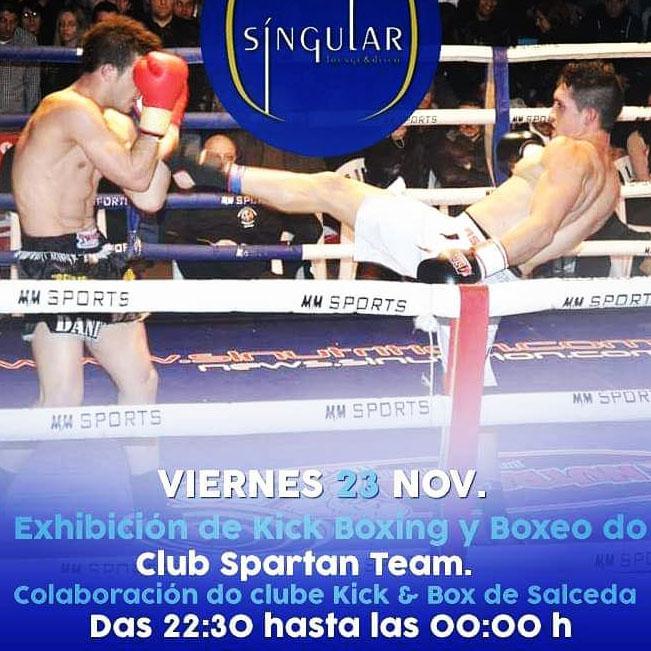 Afiche promocional de la exhibición en el Club Spartan Team. cedida