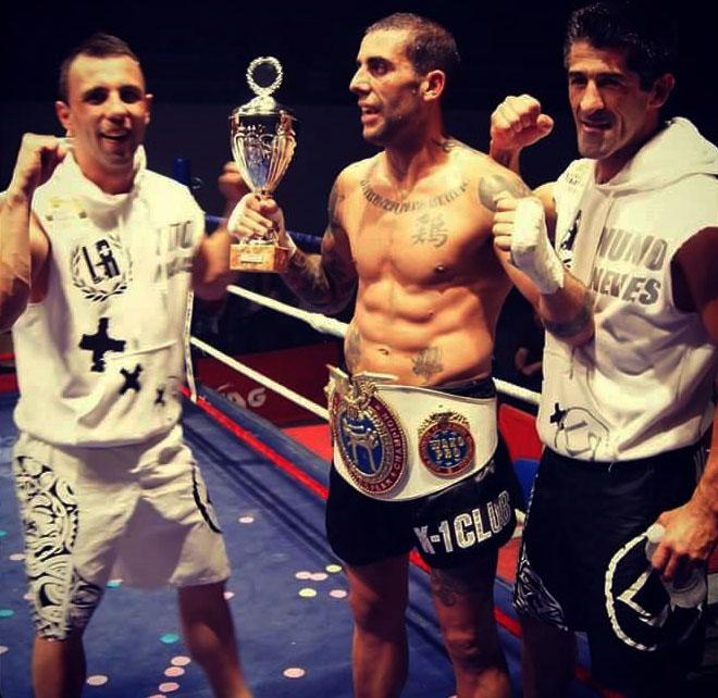 DIEGO VÁZQUEZ  se proclamó Campeón de Europa Wako - Pro, con todo en contra en Francia. Foto  Juan J. Pardo