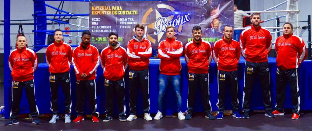 Imagen, difundida por la FGB, de los boxeadores gallegos que se enfrentarán al conjunto vasco el próximo sábado 2 de febrero. foto web de la FGB.
