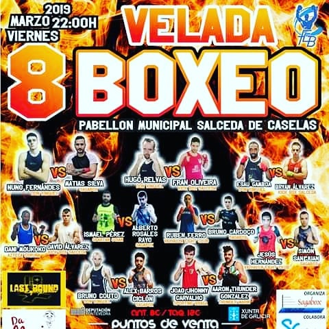 Cartel anunciador de la competición de boxeo olímpico que se disputara en Salceda de Caselas. Cedido
