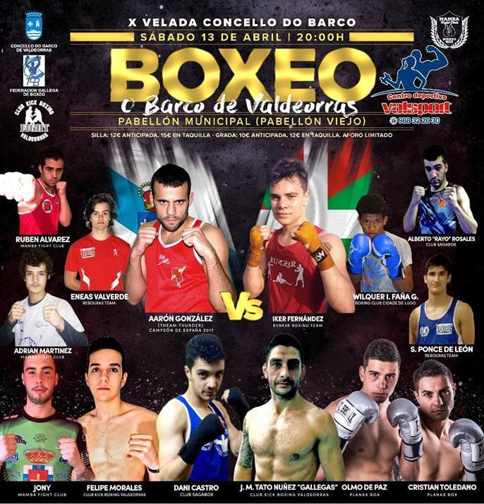 Afiche de promoción de la X Velada Concello Do Barco, cortesía de Juan Pardo Bravo