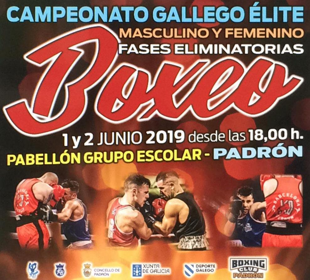 Afiche publicitario de las 2 jornadas boxisticas que organizará Sergio Seco en el Pabellón Grupo Escolar, cortesía del Boxing padrón.
