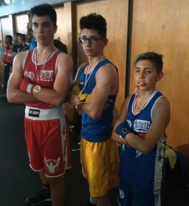 Los 3 competidores de oro gallegos: Adán Molada, Mario Aquino y Alex Juncal. Cedida por Rebouras team.