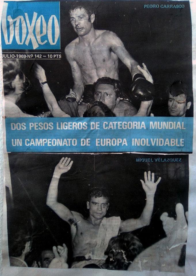 Portada de la revista BOXEO, que editaba la FEB, correspondiente a junio de 1969. Archivo personal del exboxeador y periodista de Vigo Fabio Antonio Matilla Ameijeiras.