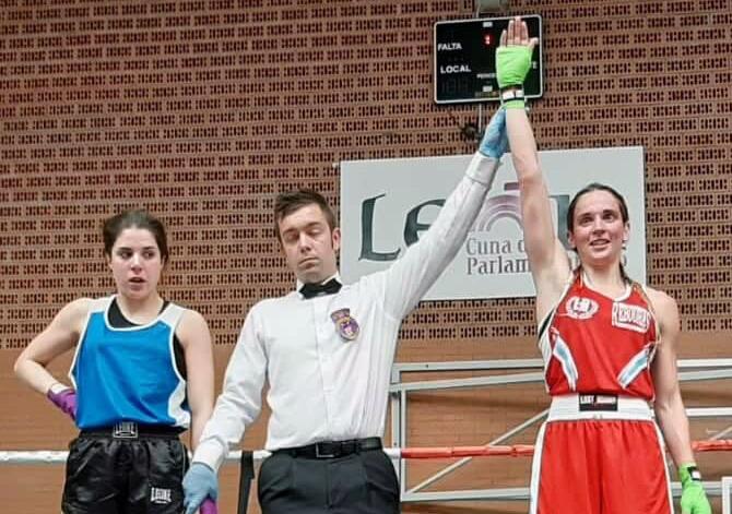 El árbitro castellano-leones proclama campeona de Castilla-León a Christine Oya. cedida