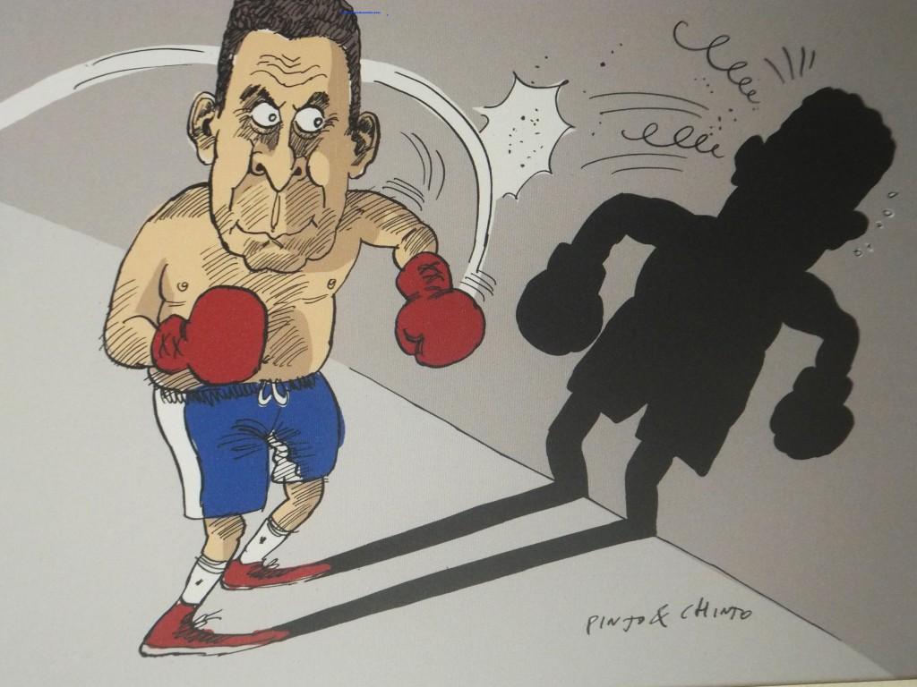 Caricatura creada por Pinto & Chinto con motivo de la jubilación del que esto escribe.