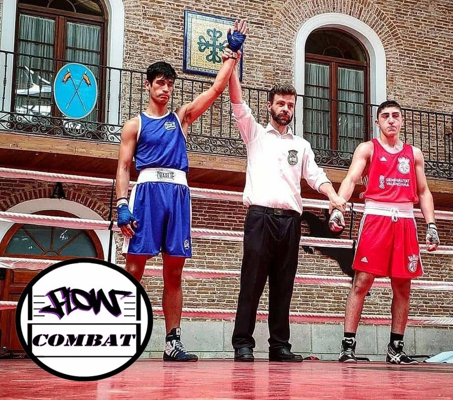 El logotipo del Club Flow Combat ya acompaña los triunfos de nuevos valores como Santiago Ponce de León, triunfador en el Torneo Jóvenes Valores de Valladolid. Cedida