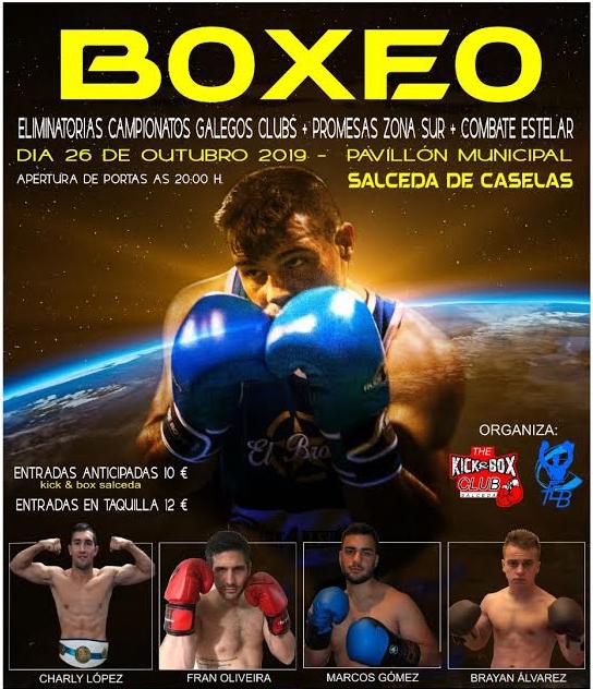 Cartel publicitario cortesía del director técnico del Kick & Box Santi Morais,