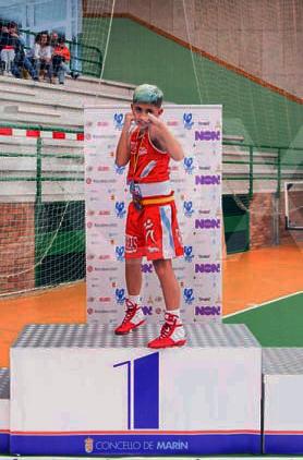 Adán Molada García Campeón de España. Foto cedida por su club de pertenencia Rebouras Team de Vigo.