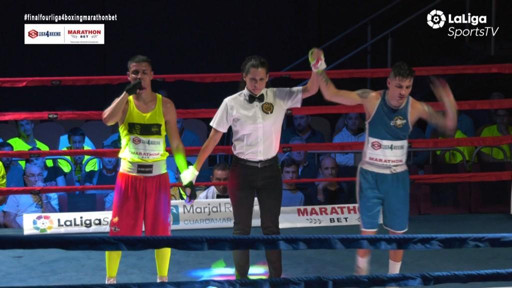 El Rayito vigués Enrique Pereira fue el único guerrero al que le concedieron el triunfo. foto retransmisión de LaLiga4Sports