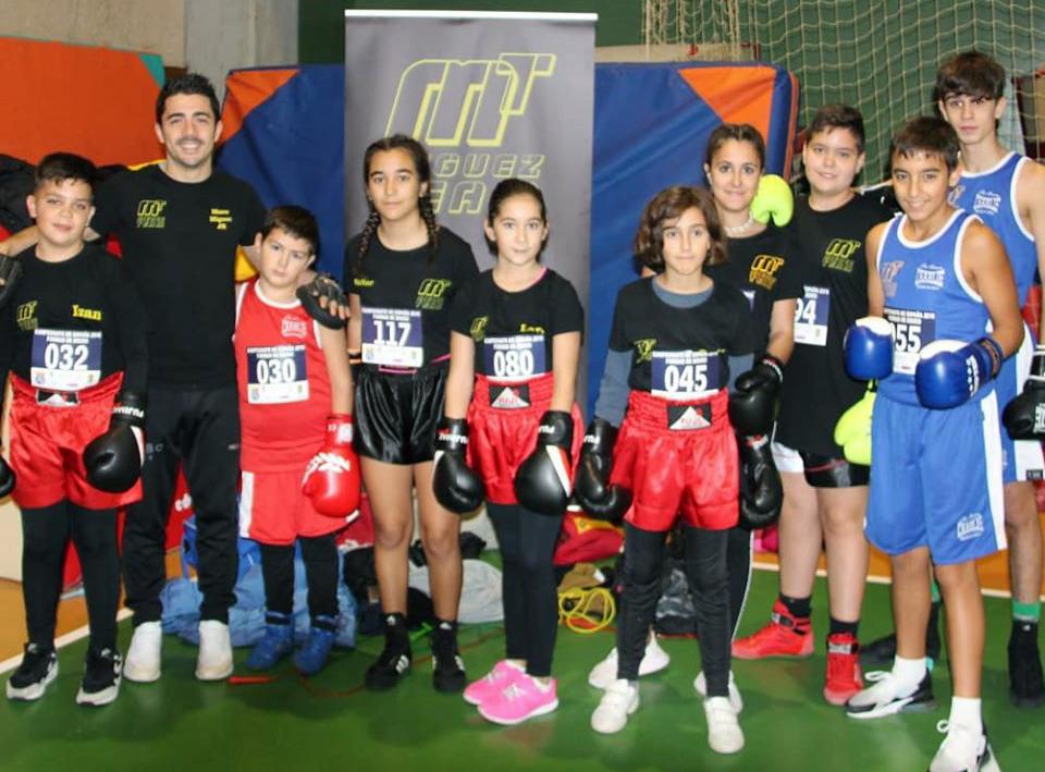 Los infantes del flamante club Turbo Box Miguez será el gran aliciente del sábado en el Pazo de deportes Paco Paz de Orense. Foto cedida.