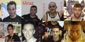Algunos de los boxeadores gallegos que ocupaban alto rango en el boxeo del año 2015.