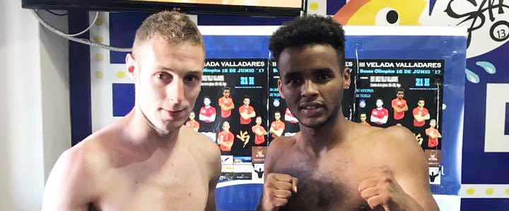 Dos grandes boxeadores para un buen combates: Oscar Blanco e Ydne Subiñas. Cedida